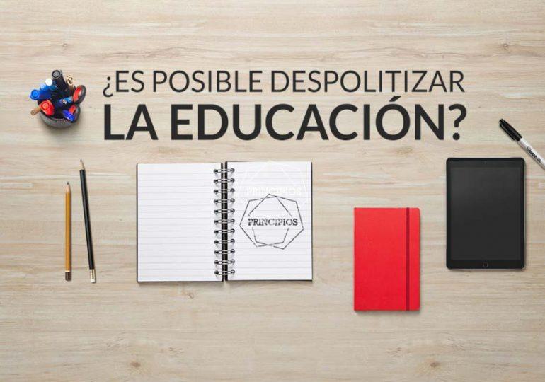 ¡No politizar la educación!