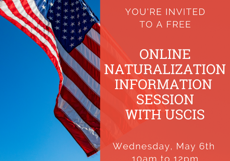 USCIS llevará a cabo sesiones informativas virtuales/USCIS to Conduct Virtual Information Sessions
