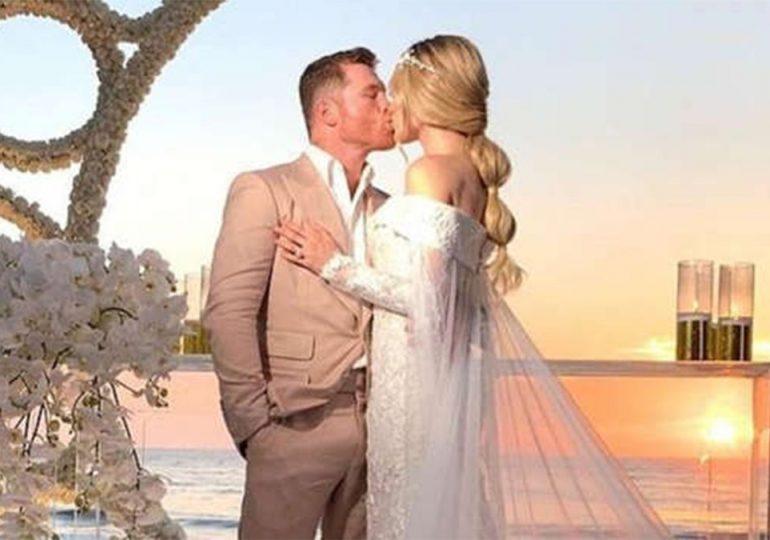Canelo Álvarez se casó con Fernanda Gómez en un lujoso lugar de Punta Mita