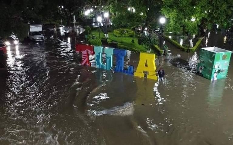 Baja nivel de inundación en Tula